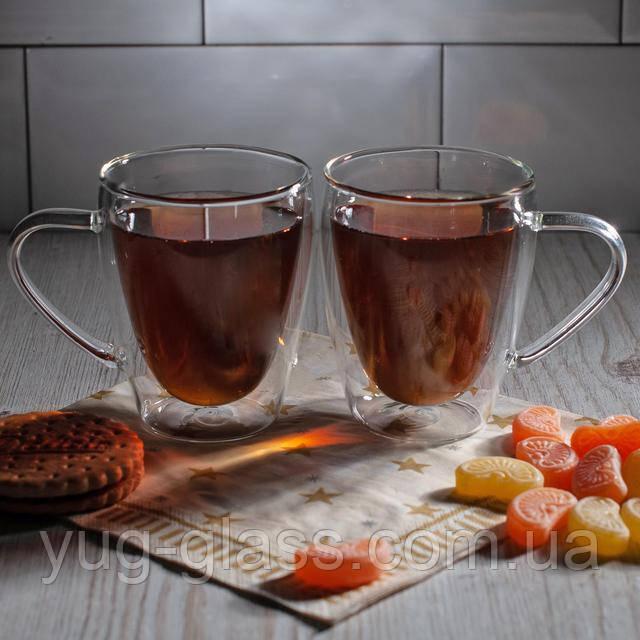 Кружки с двойными стенками для чая