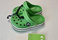 Кроксы детские Crocs Crocband зеленые 24-25 разм. С 8/9, фото 1
