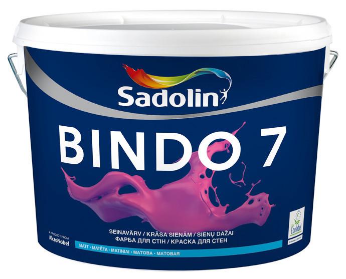 Краска для стен  и потолка Sadolin BINDO 7 ( Садолин Биндо 7) 10л