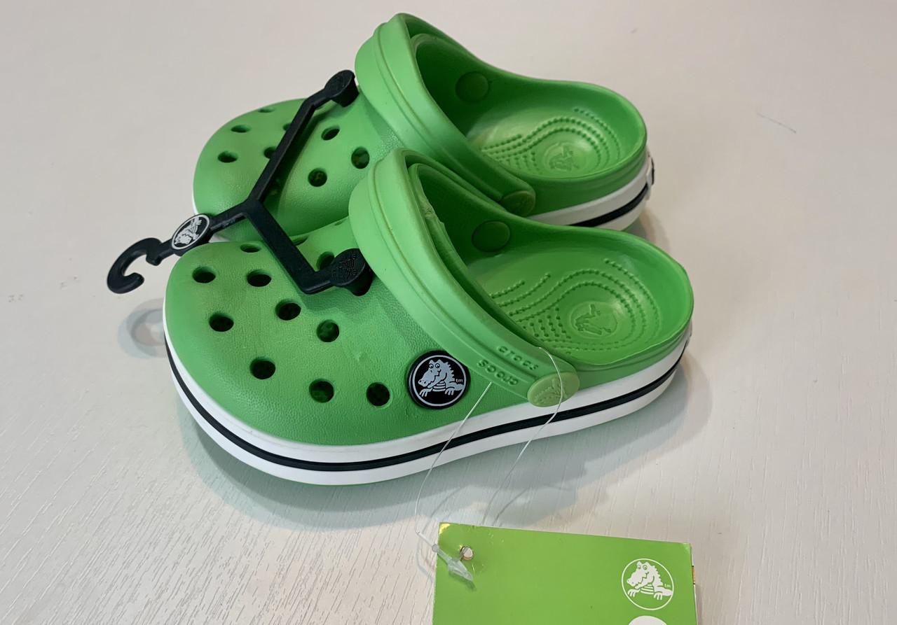 Кроксы детские Crocs Crocband зеленые 28-29 разм. С 12/13