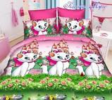 Набор постельного белья Китти (кошечки) для девочки полуторный 150х215см, фото 2