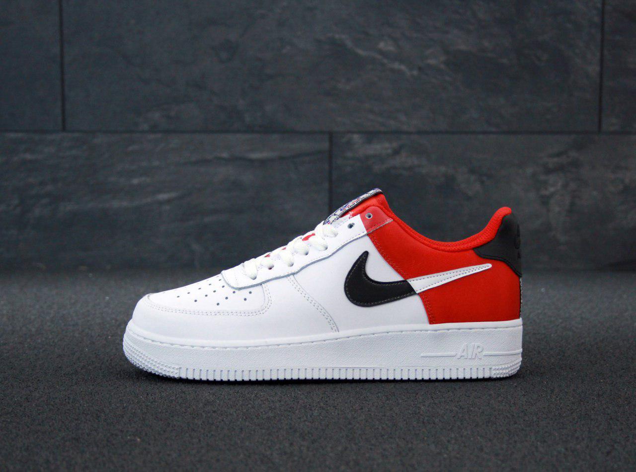 Кроссовки мужские Nike Air Force 31418 красно-белые
