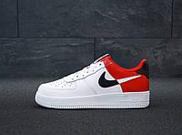Кроссовки мужские Nike Air Force 31418 красно-белые, фото 1