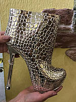 Статуэтка-ваза Ботинок на каблуке серебряный