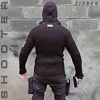 """Свитер с капюшоном """"СТРЕЛОК"""" ZIPPER BLACK, фото 2"""