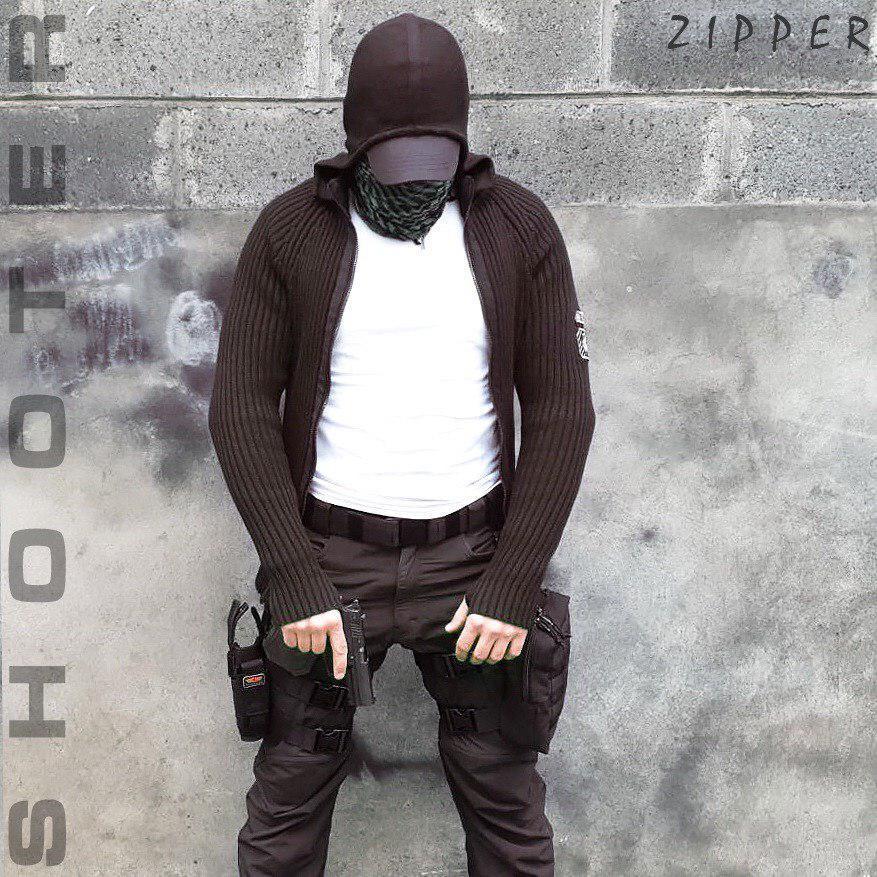 """Свитер с капюшоном """"СТРЕЛОК"""" ZIPPER BLACK"""
