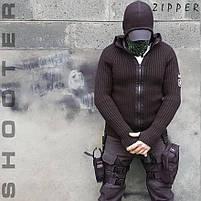 """Свитер с капюшоном """"СТРЕЛОК"""" ZIPPER BLACK, фото 5"""