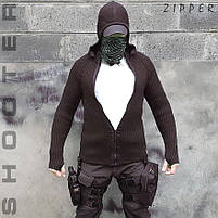 """Свитер с капюшоном """"СТРЕЛОК"""" ZIPPER BLACK, фото 6"""