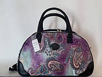 Компактная дорожная женская текстильная сумка-саквояж для ручной клади