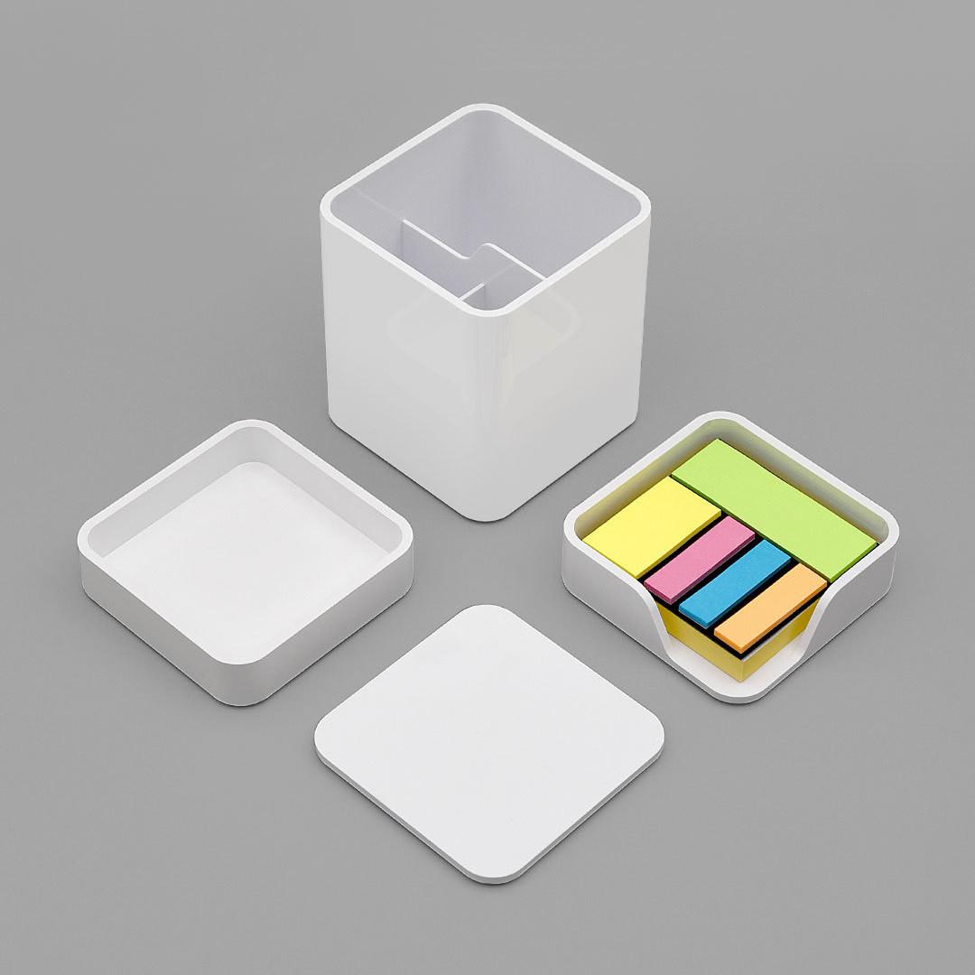 Xiaomi LEMO Desktop Органайзер 3 в 1 ABS Пластик Белый Хранение Коробка Карточка Ручка - 1TopShop