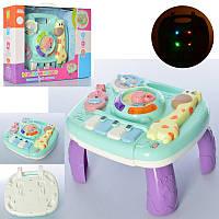 Игровой центр столик, развивающий музыкальный столик для малышей Жираф на украинском, трещотка, музыка, 0100