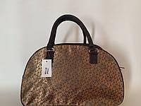 Дорожная женская сумка-саквояж текстильная