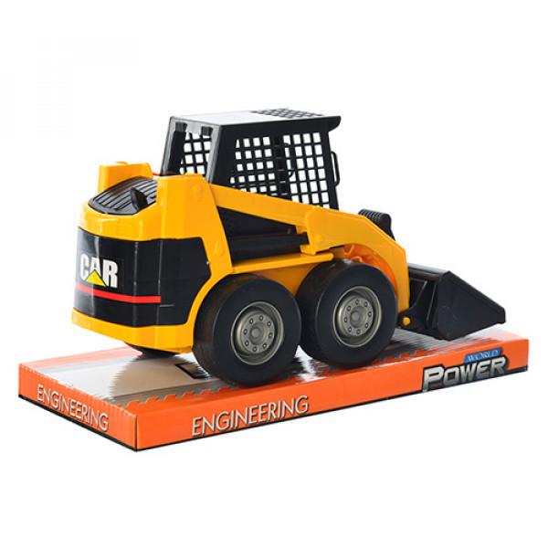 Машина бульдозер арт 211 инер-й, 23,5-13-9,5см, подвижный ковш, в слюде, 25-15-12 см
