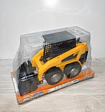Машина бульдозер арт 211 инер-й, 23,5-13-9,5см, подвижный ковш, в слюде, 25-15-12 см, фото 2