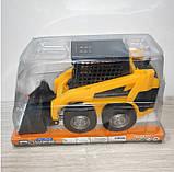 Машина бульдозер арт 211 инер-й, 23,5-13-9,5см, подвижный ковш, в слюде, 25-15-12 см, фото 4