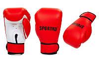 Перчатки боксерские Кожвинил на липучке SPORTKO  (р-р 8-12oz, красный), фото 1