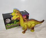 Динозавр арт  802 , ходит  29см, звук, свет, ходит, на бат-ке, в кор-ке, 21-11-7,5см, фото 2