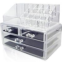 Органайзер двухуровневый с 4 ящичками для хранения косметики и аксессуаров 2Life Cosmetic storage box (n-235)
