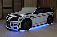 Кровать машина Премиум Land Rover белый