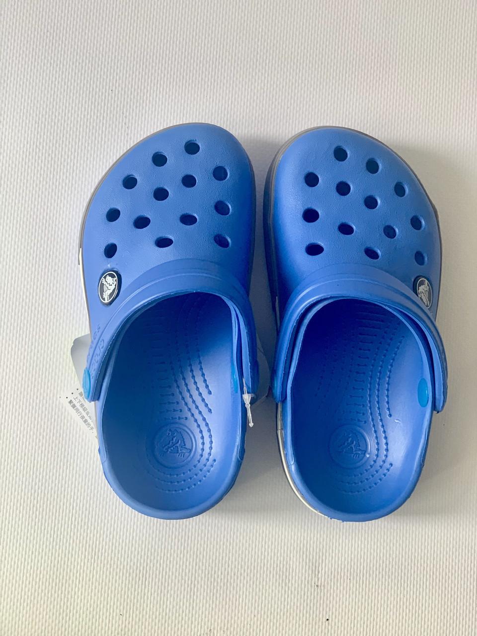 Кроксы детские Crocs Crocband 2.5 голубо-серые 26-27 разм. С 10/11