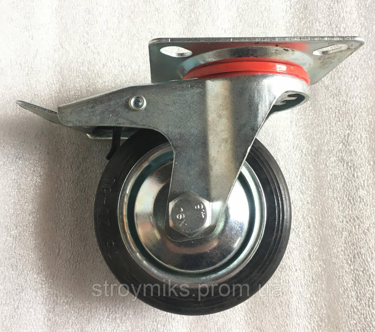 Колесо 75/25-50 с поворотным кронштейном и тормозом