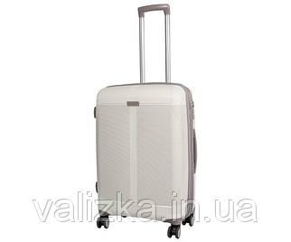 Малий пластиковий чемодан з поліпропілену Snowball на блискавці білий
