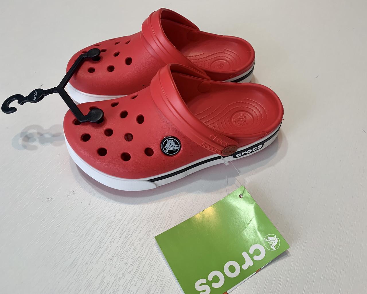 Кроксы детские Crocs Crocband 2.5 красные 26-27 разм. С 10/11
