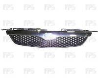 Решетка радиатора Mazda 323 98-01 F/S с хромированной накладкой (FPS)