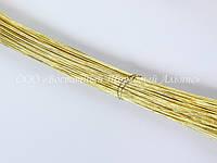 Стебельки для цветов — Золото - (№26) - Ø0,45 мм - L25 см - 200 шт.