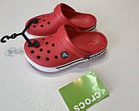 Кроксы детские Crocs Crocband 2.5 красные 33разм. J2, фото 1
