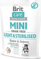 Brit Care Mini Light Sterilised Диетический корм для стерелизованных собак 0,4 кг