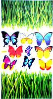 Наклейка виниловая Бабочки.Трава 3D декор