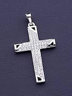 Крестик 'XUPING' Фианит (родий)