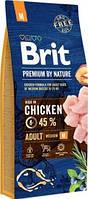Brit Premium by Nature Adult Корм Брит Премиум для собак средних пород M 15 кг