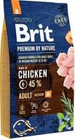 Brit Premium by Nature Adult Корм Брит Премиум для собак средних пород  M 8 кг