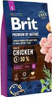Brit Premium by Nature Adult Корм для взрослых собак мелких пород S 8 кг