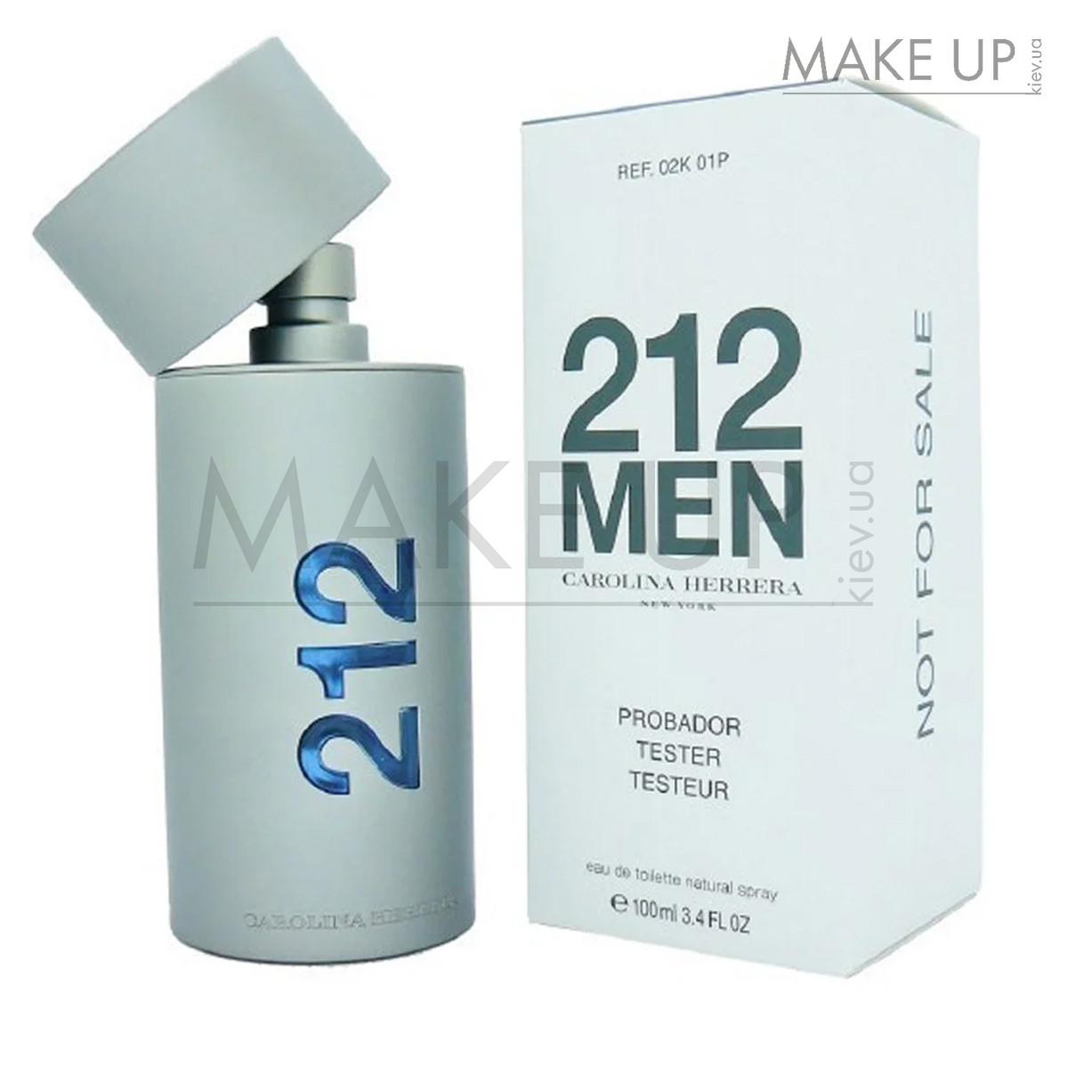 Tester мужская туалетная вода Carolina Herrera 212 Men EDT 100 мл. | Лиц. ОАЭ Тестер