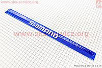 Защита штанов от попадания в цепь, светоотражающая, синяя SHIMANO