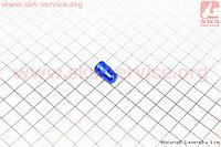Колпачок ниппеля, алюминиевый, синий AV-08