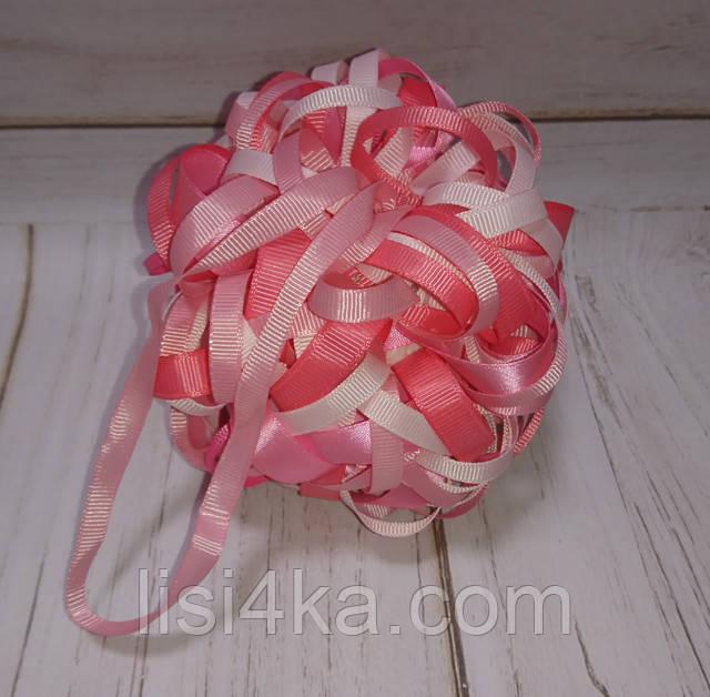 Елочный шар ручной работы розового цвета