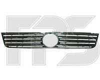 Решетка радиатора VW Passat B5 черная с хромированными накладками (FPS)
