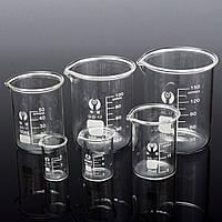 6Pcs5102550100 150 мл Набор мензурка Градуированный стакан из боросиликатного стекла Объемная измерительная лабораторная посуда - 1TopShop