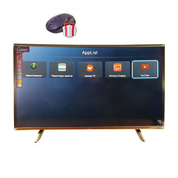 "Телевизор COMER 39"" изогнутый SmartTV 4K UHDTV LED  IPTV  Android T2 WIFI  Curved TV ГЕРМАНИЯ оригинал!"
