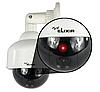 Видео камера купол для видеонаблюдения , муляж, поддельная с лампочко