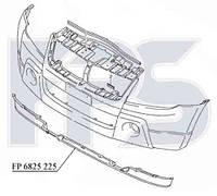 Спойлер бампера перднего Suzuki Grand Vitara 06- черный (FPS)