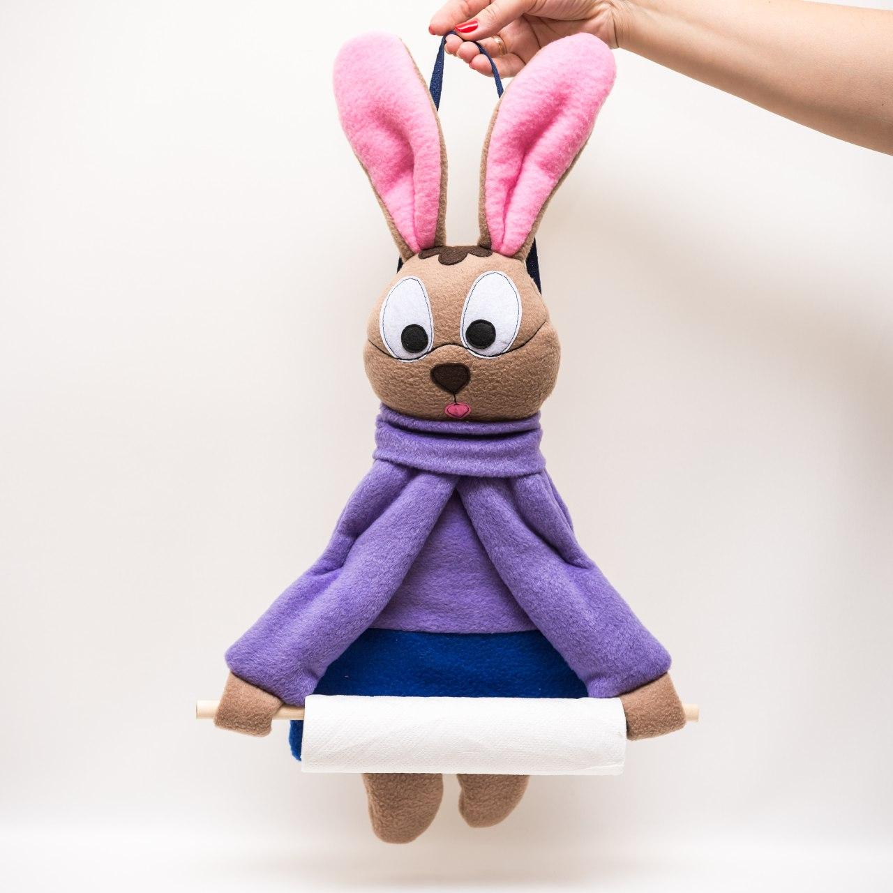 Полотенцедержатель Умный кролик