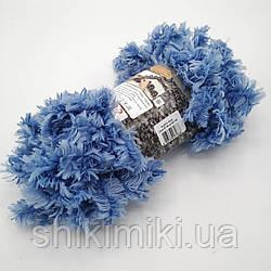 Фантазийная меховая пряжа Puffy Fur, цвет василек