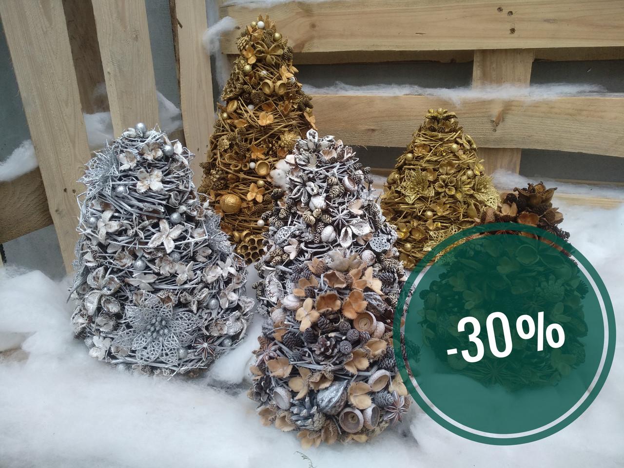 Знижки на новорічні ялинки на стіл 30%
