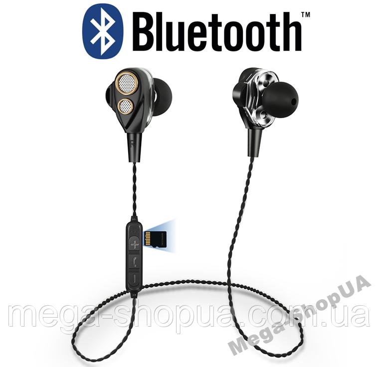 Наушники и гарнитура беспроводные Bluetooth SMN-15-2 / MP3 плеер. Вакуумные наушники. Бездротові навушники