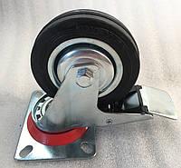 Колесо 100/30-50 с поворотным кронштейном и тормозом, фото 1